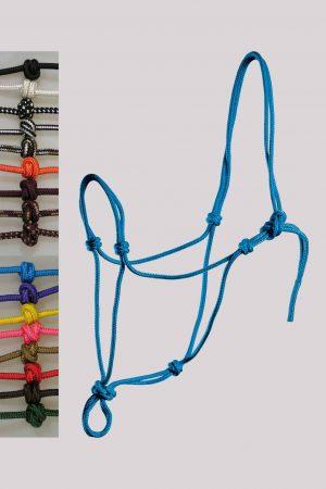Knotenhalfter und Seile